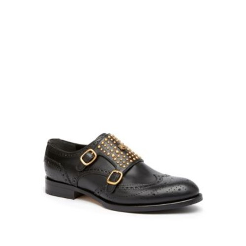 GUCCI Queercore Studded Brogue Monk Shoes