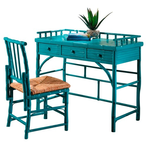 Eastbrook Desk and Chair Set, Turquoise