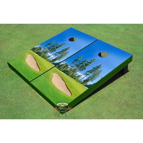All American Tailgate Golf Course Bunker Cornhole Board (Set of 2)