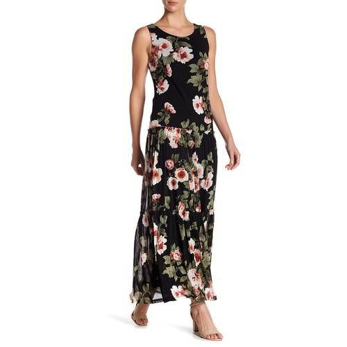 Mesh Floral Maxi Dress