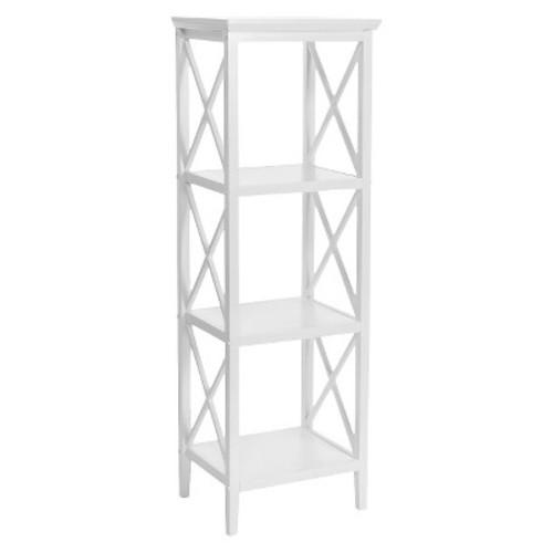 RiverRidge X-Frame Collection 4-Shelf Storage Tower - White