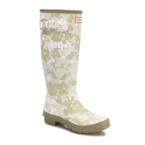 HUNTER Original Flectarn Camo Tall Rubber Rain Boots