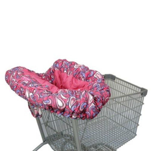 Floppy Seat Shopping Cart Cover in Pink