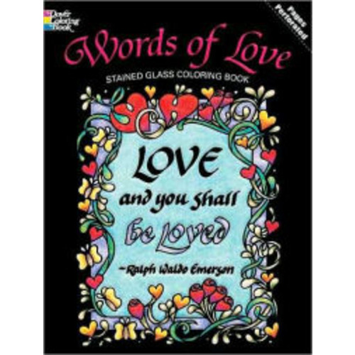 Words of Love Stained Glass Coloring Book
