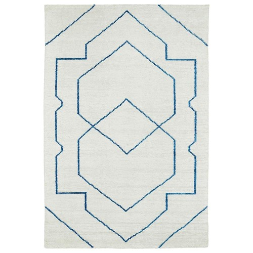 Kaleen Solitaire Ivory 5 ft. x 7 ft. 9 in. Area Rug