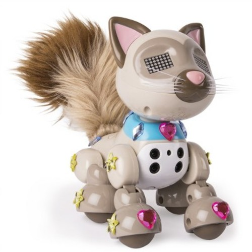 Zoomer Meowzies, Sparkles, Interactive Kitten with Lights, Sounds and Sensors, by Spin Master