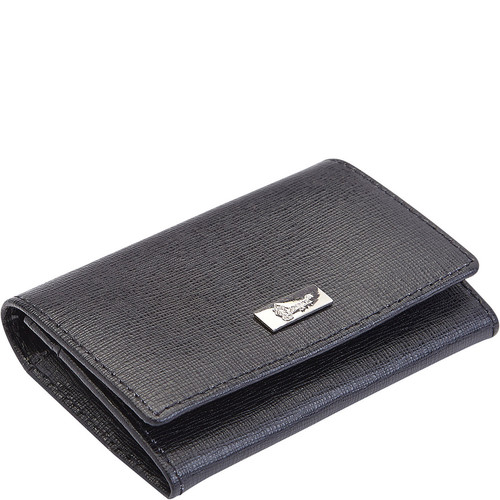Royce Leather RFID Blocking Italian Saffiano Leather Business Card Case
