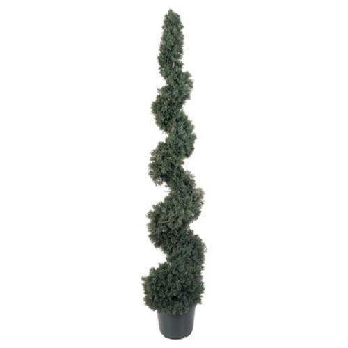 Nearly Natural 5' Cedar Spiral Silk Tree (In-door/Out-door)