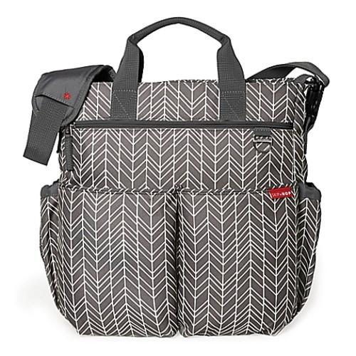 SKIP*HOP Duo Signature Diaper Bag in Grey Feather
