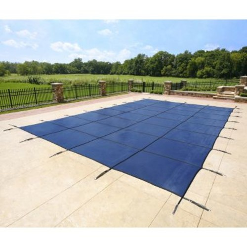 Blue Wave 16 ft. x 30 ft. Rectangular Blue In-Ground Pool Safety Cover