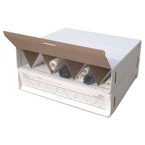 Advanced Organizing Systems Modular Stackable Roll Filing Box (Set of 2); 6.5'' H x 29'' W x 27'' D
