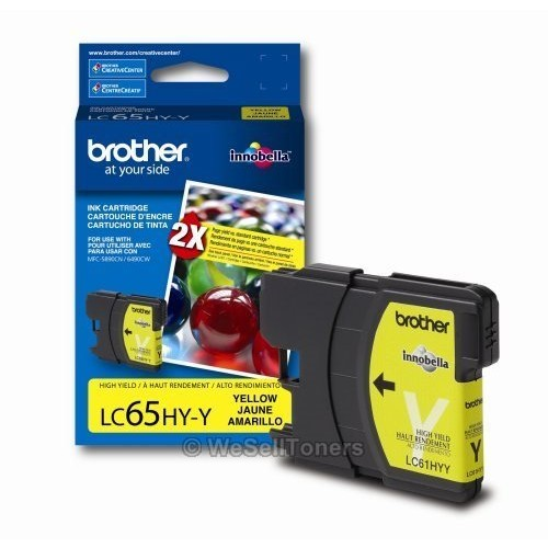 Brother LC65 Yellow Ink Cartridge