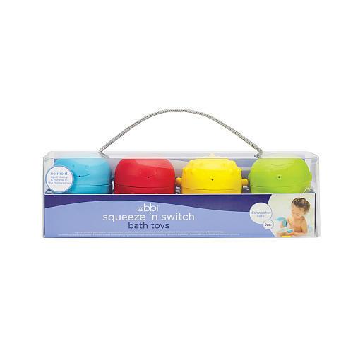 Ubbi Squeeze 'N Switch Bath Toys