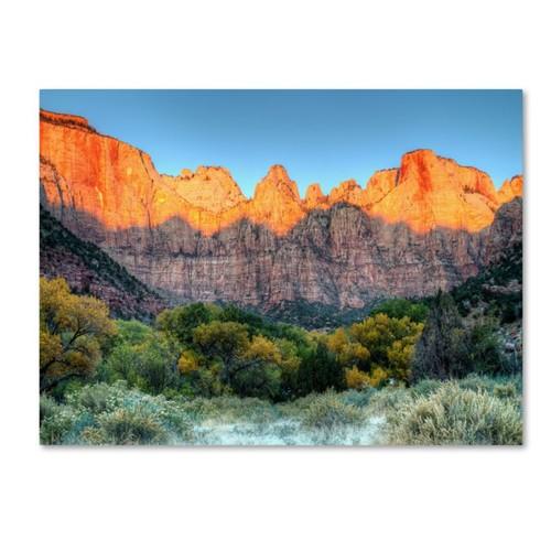 Trademark Fine Art 'Zion Sunrise' 22