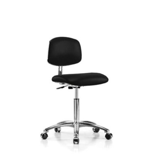 Perch Chairs & Stools Low-Back Desk Chair; Black Fabric
