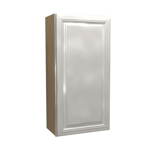 Home Decorators Collection Coventry Assembled 18x36x12 in. Single Door Hinge Right Wall Kitchen Cabinet in Pacific White