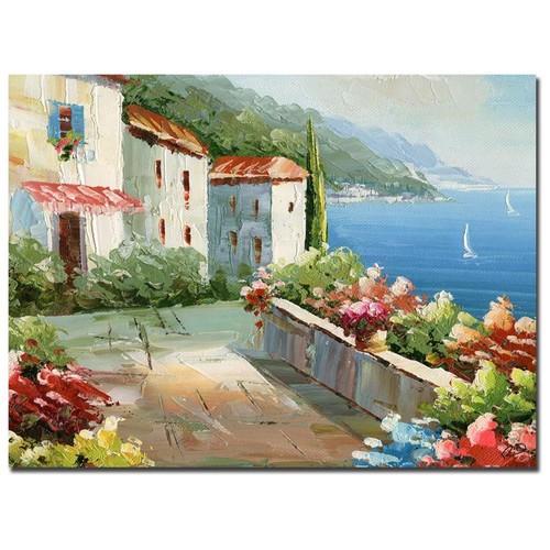Rio 'Mediterranean View' Gallery-wrapped Canvas Art