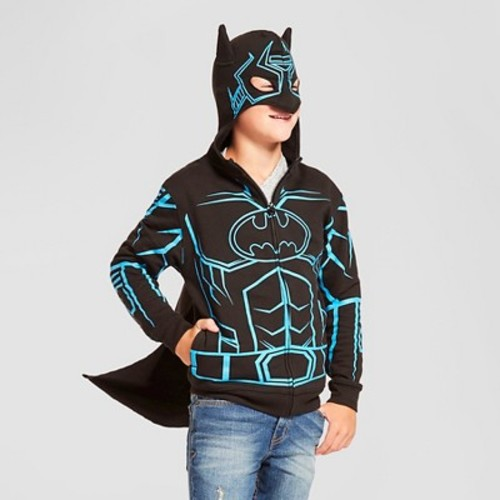 Boys' Batman Hooded Sweatshirt - Black