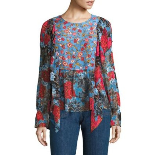 SEE BY CHLOÉ Ruffled Floral-Print Bell Sleeve Blouse
