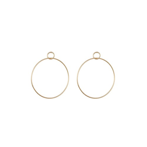 Double Drop Frontal Hoop Earrings