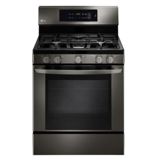 LG Electronics 5.4 cu. ft. Gas Range with EasyClean in Black Stainless Steel