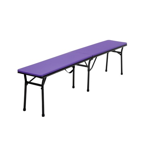 Cosco Home and Office Products 6 ft. Purple Center Fold Tailgate Bench with Carrying Handle, 2 Pack