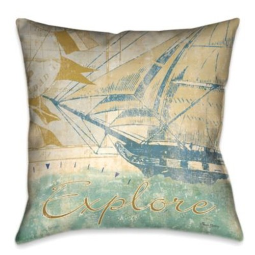 Laural Home Mariner's Sentiment I Square Throw Pillow