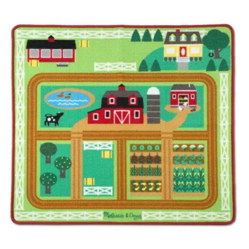 Melissa & Doug Round the Barnyard Farm Play Rug