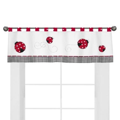 Sweet Jojo Designs Polka Dot Ladybug Window Valance