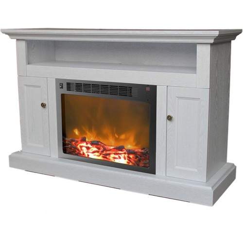 Cambridge Sorrento 47 in. Electric Fireplace in White