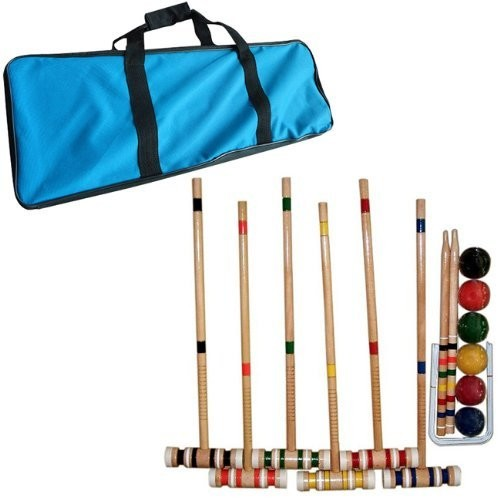 Trademark Global Croquet Set with Carrying Case- Various Licenses [Croquet Set]