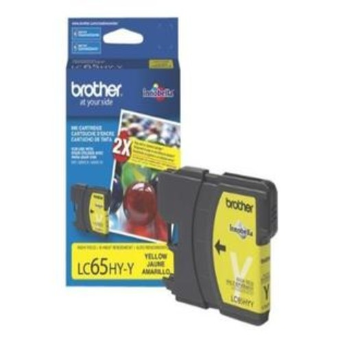 Brother LC65HYY High-Yield Ink Cartridge, 750 Page-Yield, Yellow