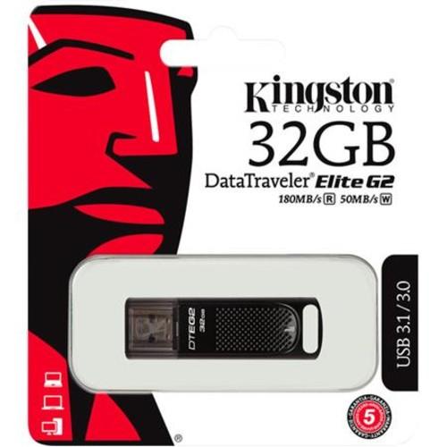 Kingston Technology DataTraveler Elite G2 32GB USB 3.1/3.0 Metal Flash Drive