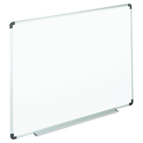 Universal Dry Erase Board, Melamine, 36 x 24, White, Black/Gray Aluminum/Plastic Frame
