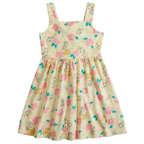 Disney's Beauty and the Beast Belle Toddler Girl Rose Print Dress by Jumping Beans
