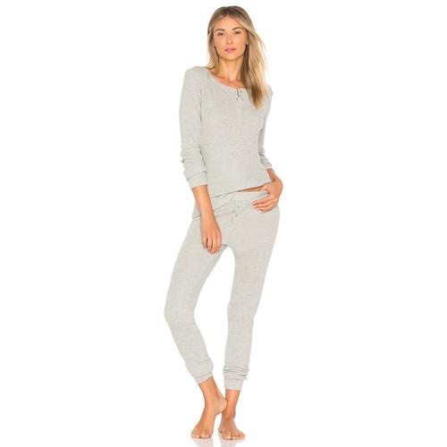 Calvin Klein Underwear Holiday Pajama Set in Grey Heather & Silver Lurex
