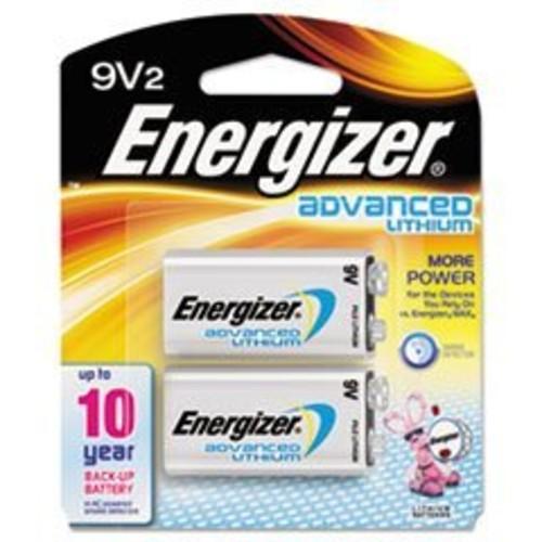 Energizer Advanced Lithium 9V Batteries, 2 Count [9V, 2]