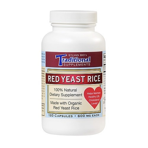 Traditional Supplements Red Yeast Rice, 600 mg, Capsules, 120 capsules