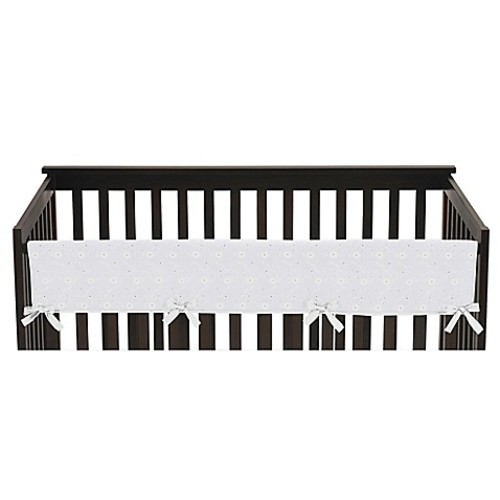 Sweet Jojo Designs Eyelet Long Crib Rail in White
