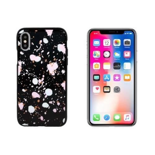 End Scene iPhone X Case - Black Splatter Three Dots