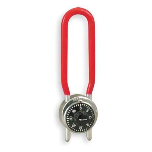 Master Lock Combination Padlock, Center, Black/Silver 1517D