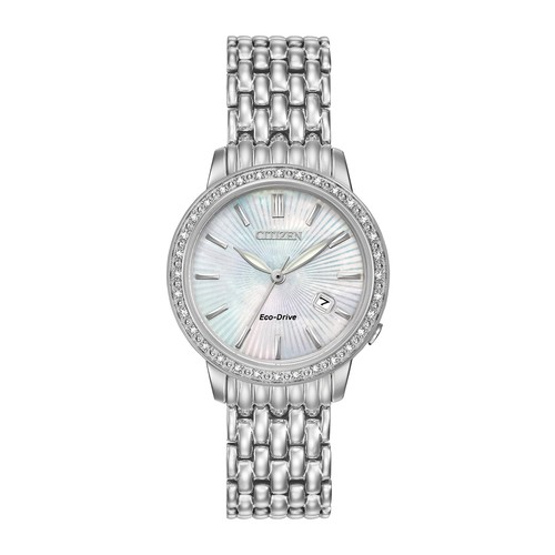 Women's Eco-Drive Diamond-Accent Bracelet Watch, 29mm - 0.0053 ctw