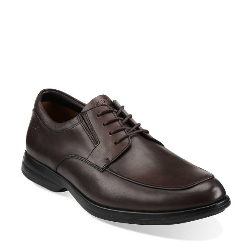 Clarks General Pace Mens Lace Up Shoes Brown 9