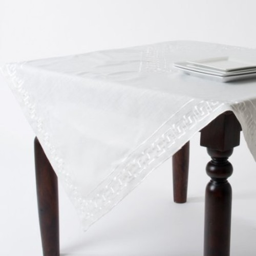 Saro Classic Greek Key Tablecloth