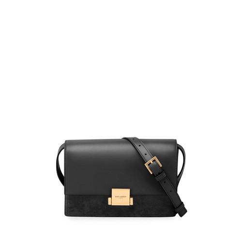 SAINT LAURENT Bellechasse Medium Leather/Suede Satchel Bag