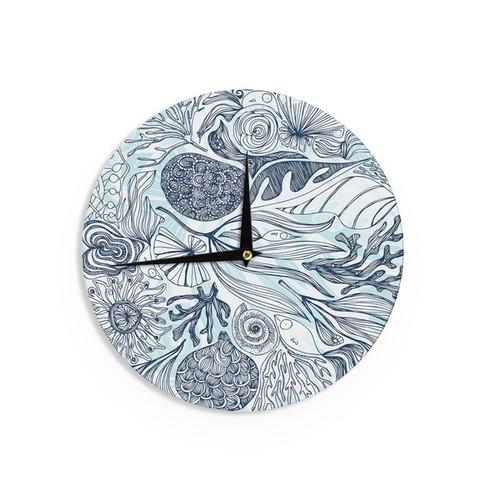 KESS InHouseViviana Gonzalez 'Dream in blue' Wall Clock