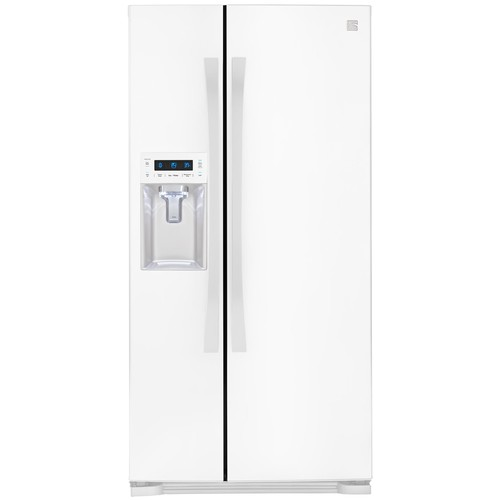 Kenmore Elite 51822 21.9 Cu. Ft. Side-by-Side Refrigerator with Dispenser - White