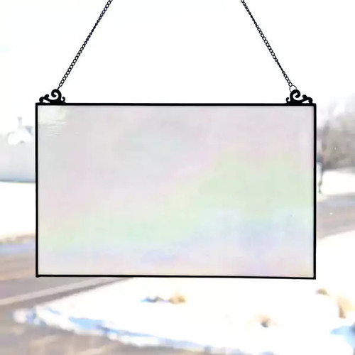 River of Goods Stained Glass 10.75-inch Single-pane Opalescent Window Panel
