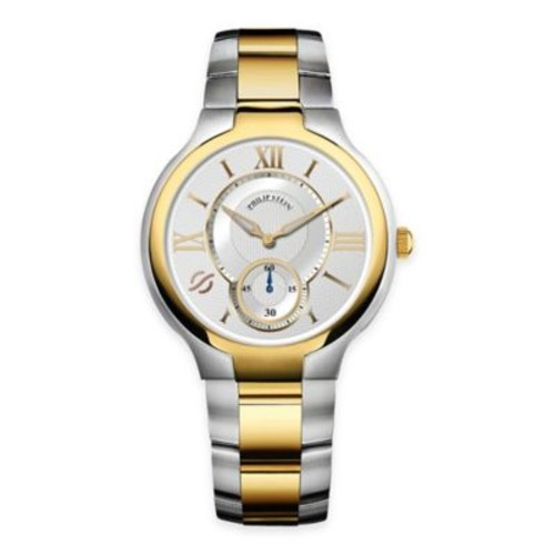 Philip Stein Men's 40mm Round Dial Bracelet Watch in Two-Tone Stainless Steel