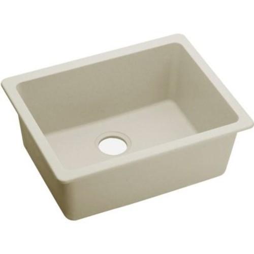 Elkay Quartz Luxe 25'' x 18.5'' Single Bowl Dual Mount Kitchen Sink; Parchment